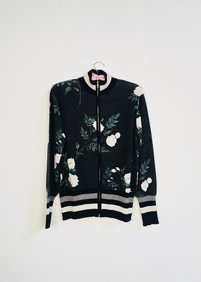 KNITWIT Nightshade Floral Cashmere Track Jacket