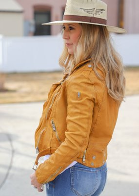 MAURITIUS Wild Lamb Leather Jacket