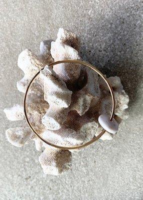 FTBM Gold Puka Shell Bracelet