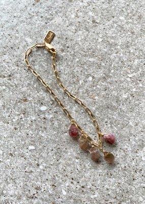 RB BRSO 14KGF Tourmaline Bracelet