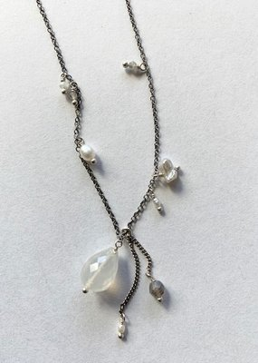 CL White Pearl Mix Necklace