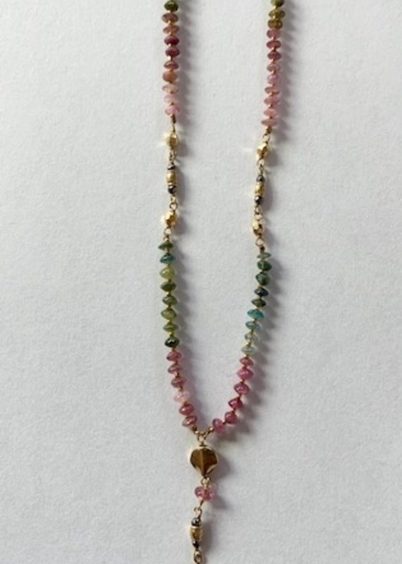 CL 18K GP Tourmaline Mix Necklace