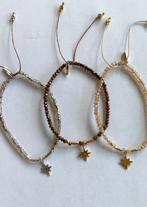 CL Beaded Pull Tie Layering Bracelets (more colors)