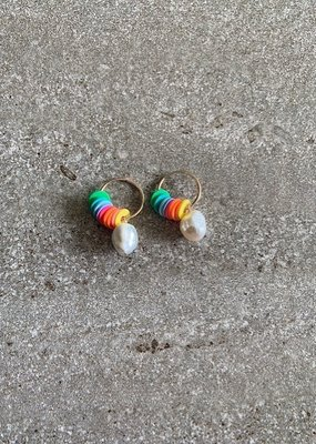 RB 14K GF Retro Surf Mini Hoops