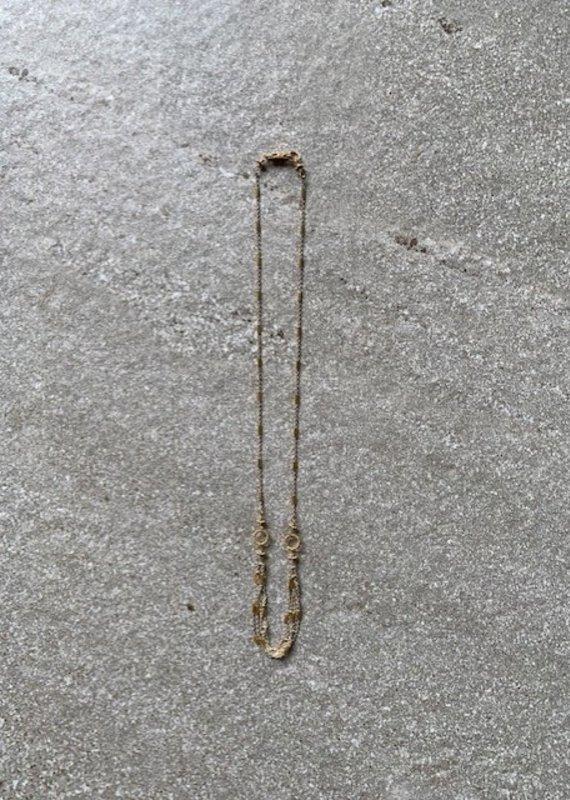 RU 22K + SS Short Chain Necklace