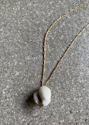 RB 14K GF Druzy Shell Necklace