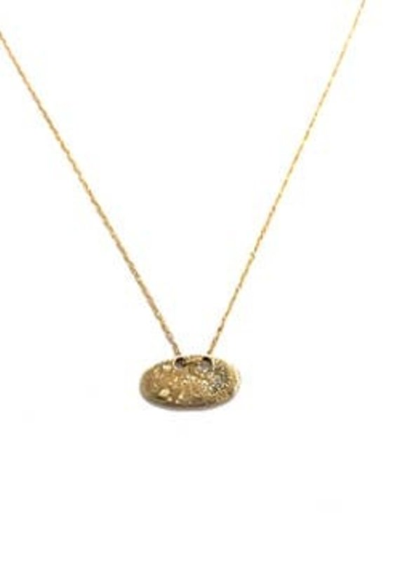 CLP Bronze Oval Charm Necklace