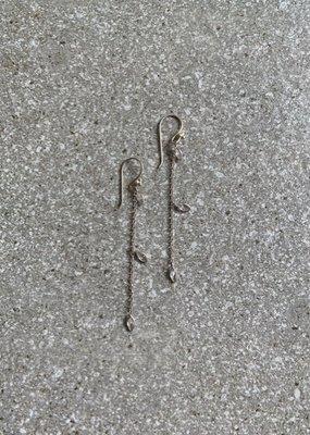RU SS CZ Triple Drop Earrings