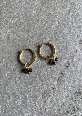 RB Dark Tourmalines on Mini Hoops
