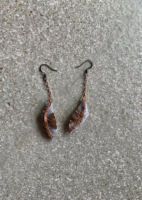 LP Kyanite + Copper Earring