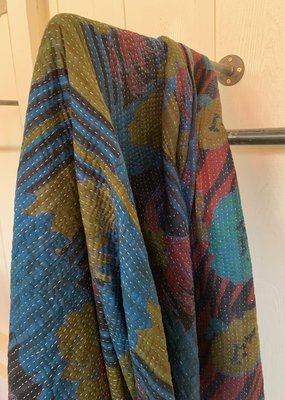 BTS Vintage Kantha with Indigo Over Dye