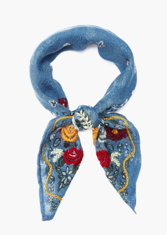 CL EMBROIDERED SCARF (More Colors)