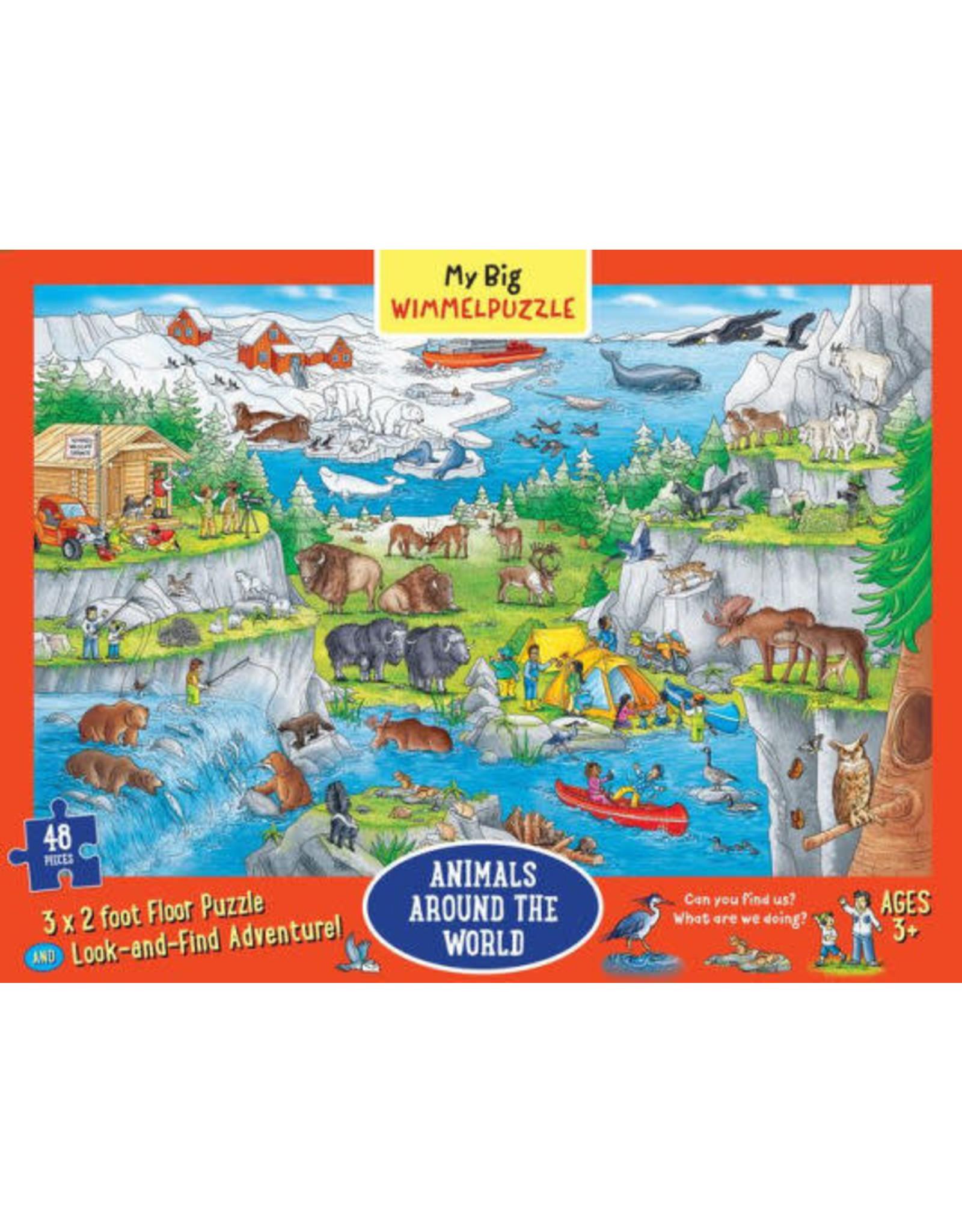 My Big Wimmelpuzzle: Animals Around the World 48 pc