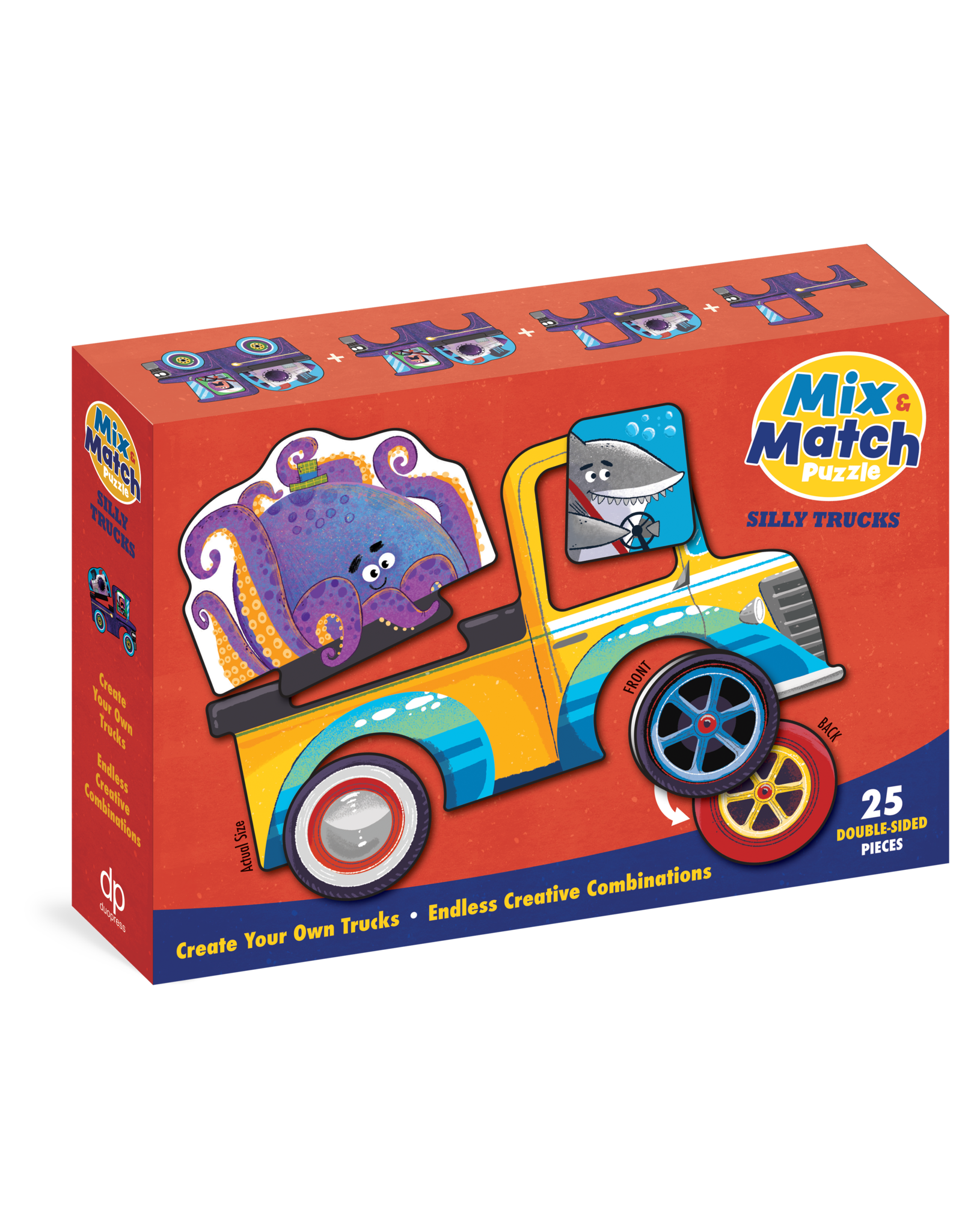 Mix and Match: Silly Trucks 25 pc Double-Sided