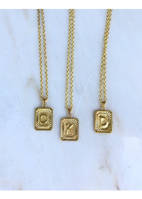 LoveAO Initial Necklace