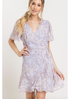 LUSH Lush Isabella Wrap Dress Lilac