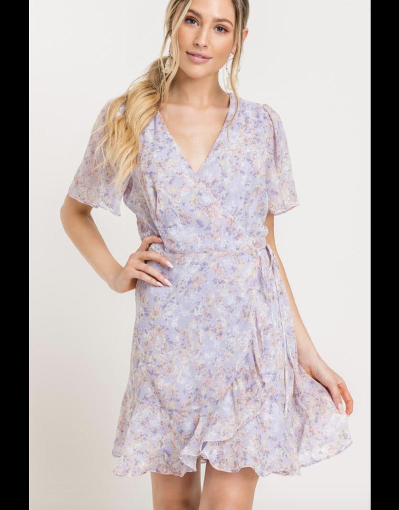 LUSH Lush Isabella Wrap Dress Lilac