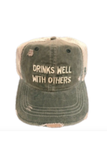 RETRO Retro Drinks Well With Others Hat Green