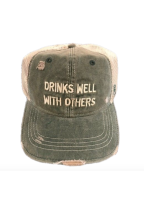 RETRO BRAND Retro Drinks Well With Others Hat Green