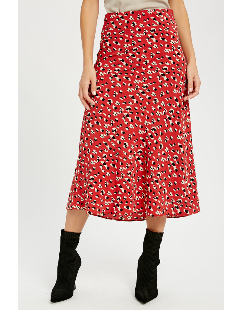 WISHLIST Wishlist Leopard Midi Skirt