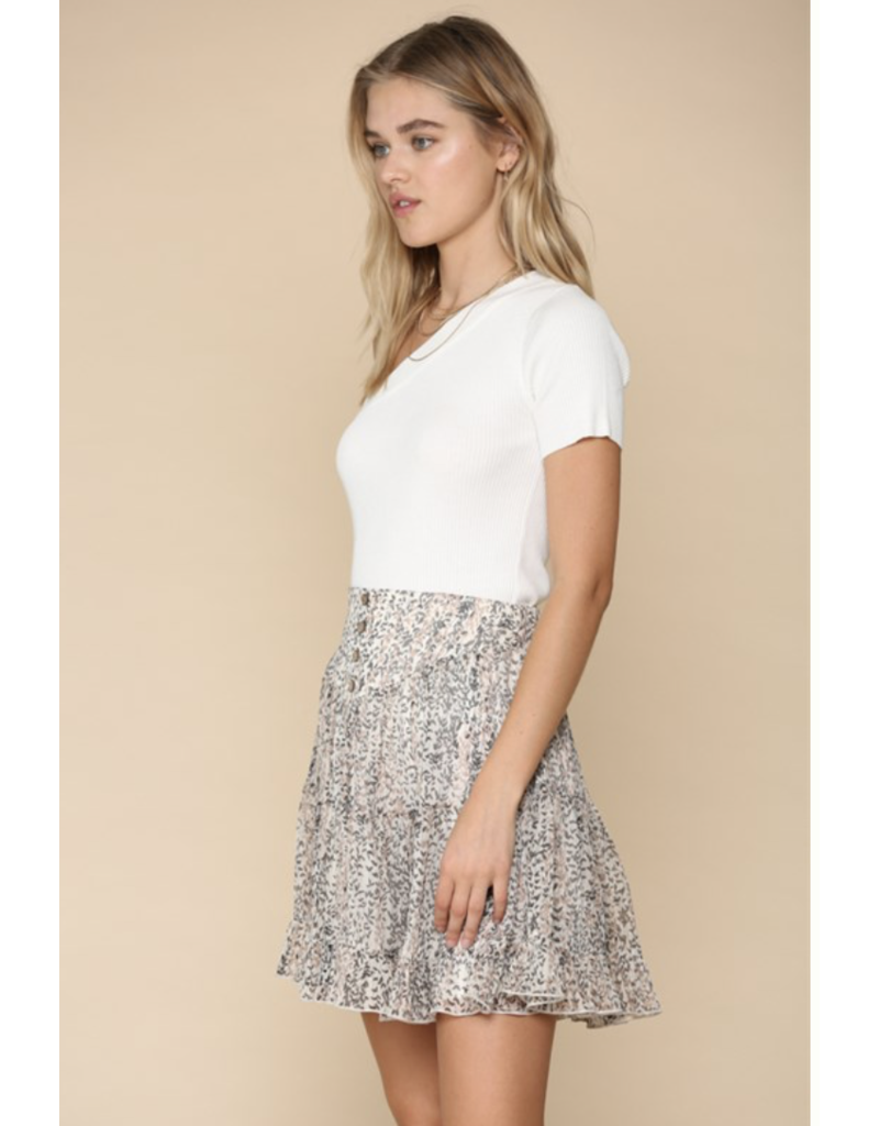 BYTOGETH By Together Floral Skirt