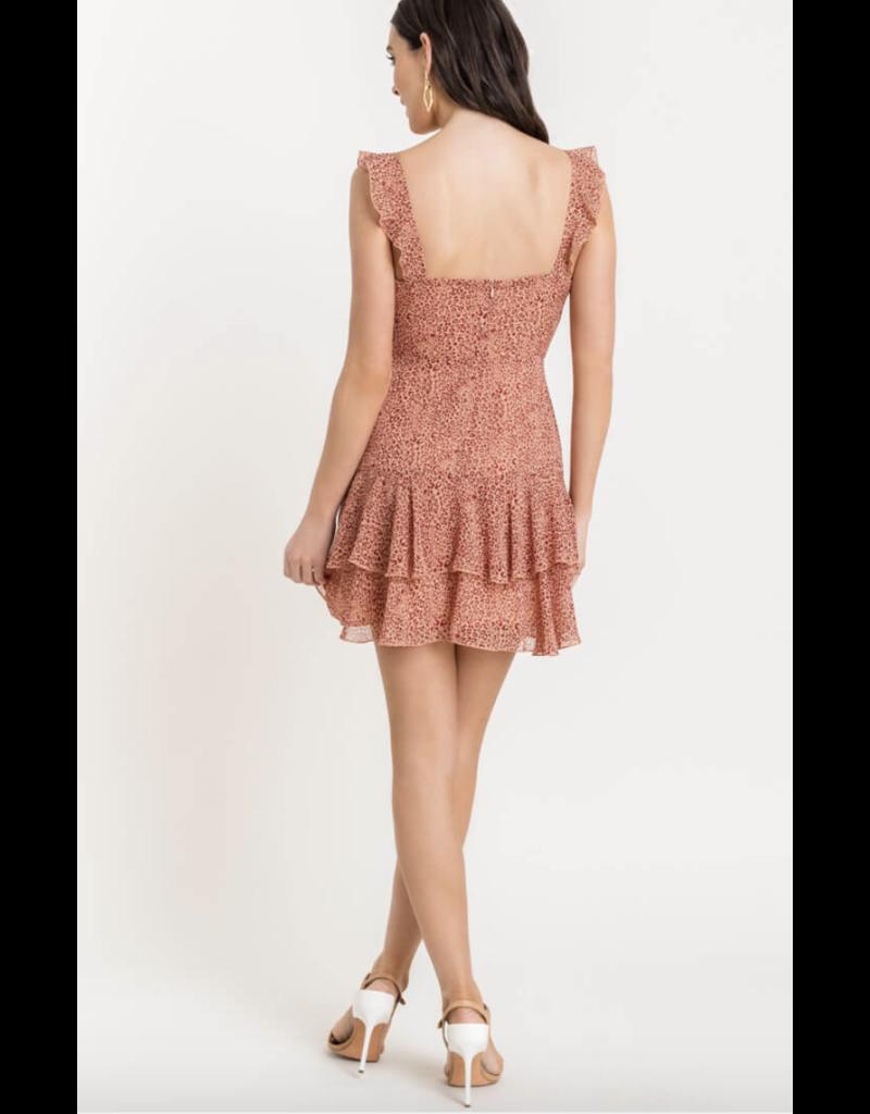 LUSH Lush Leopard Sleeveless Mini Dress