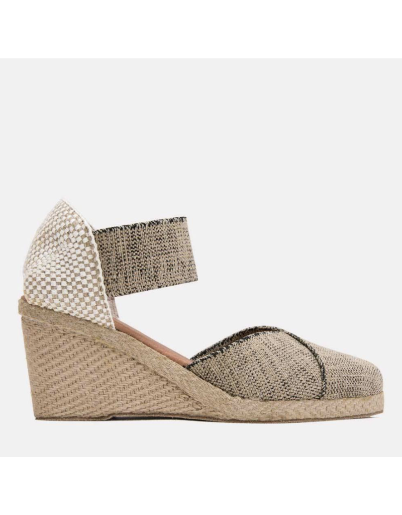 ANDRE Andre Assous Anouka Mid Elastic Espadrille Wedge Sandal