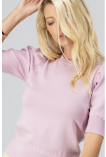 Trend Notes Trend Notes Puff Shoulder Knit Top Lavender
