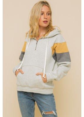 Hem & Thread Hem + Thread Sweatshirt Gold/Charcoal