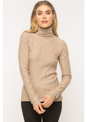 MYSTREE Mystree Turtleneck Sweater Taupe