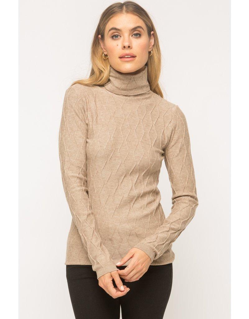 MYSTREE Mystree Turtleneck Sweater Taupe