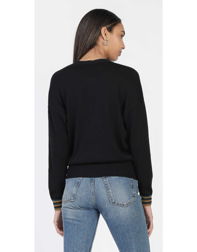 Current Air Current Air LSLV Overlap Sweater Black