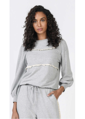 Current Air Current Air Ruffle Detail Sweatshirt Grey