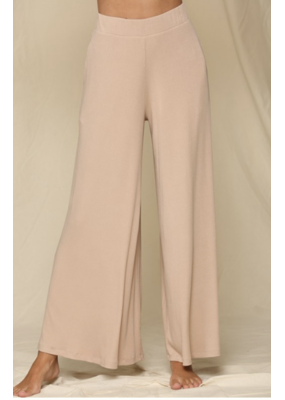 BYTOGETH By Together Knit Ribbed Wide Pants RJ1973