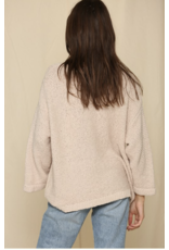 BYTOGETH By Together Long Sleeve Knit Sweater Coral Gold L4311