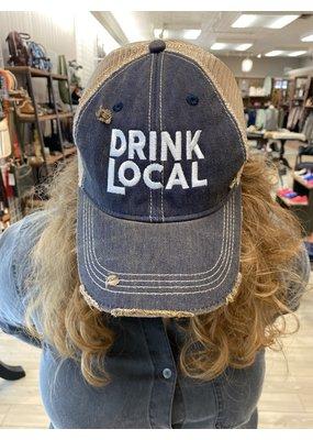 RETRO Retro Brand Drink Local Hat Navy