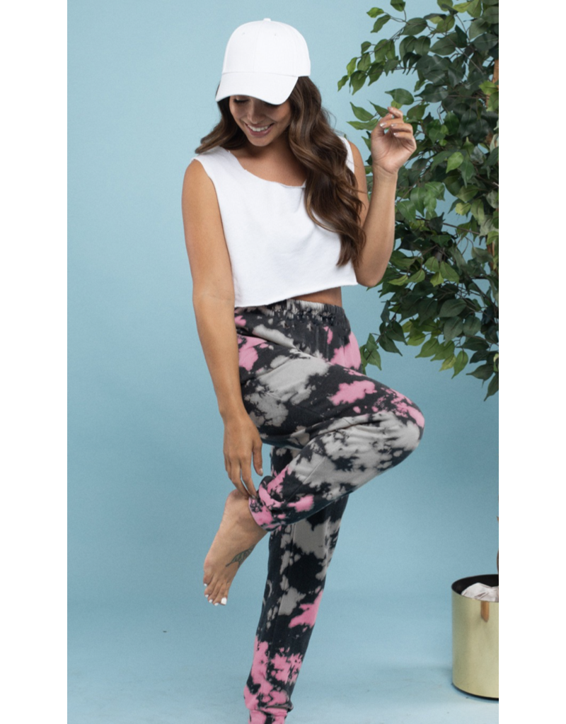 BLUE BUTTERCUP Blue Buttercup Black and Pink Leggings KP81067