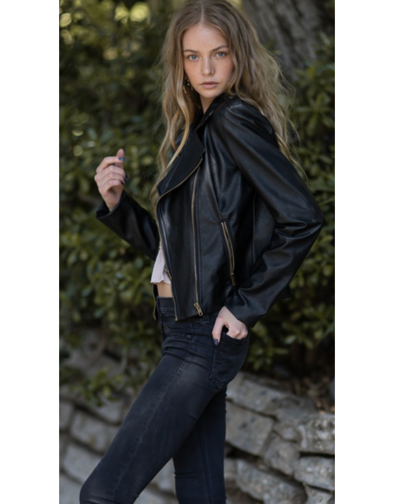 AAAAA fASHION AAAAA Fashion Moto Jacket Black 018S09