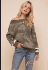 HEM & THREAD Hem + Thread Olive Sweater
