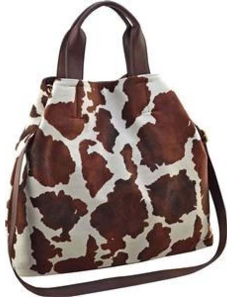 SONDRA Sondra Roberts Brown Cow Print Purse SRB2-5633