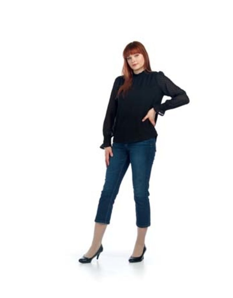 Diana + Bailey Diana + Bailey Blouse 2 Black