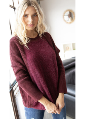 American  Chic American Chic Burgundy Sweater Y7354-CU
