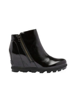 SOREL Sorel Joan of Artic Wedge Zip Black Patent