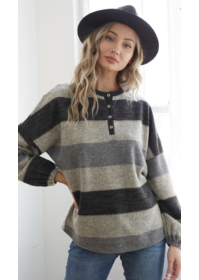 Fashion District LA Fashion District LA Striped Knit Top 6