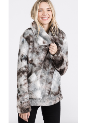Fashion District LA Fashion District LA Tie Dye Sherpa 5