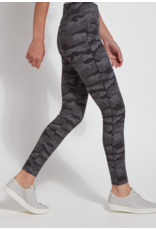 lysse Lysse Cotton Jacquard Legging Dark Heather Grey