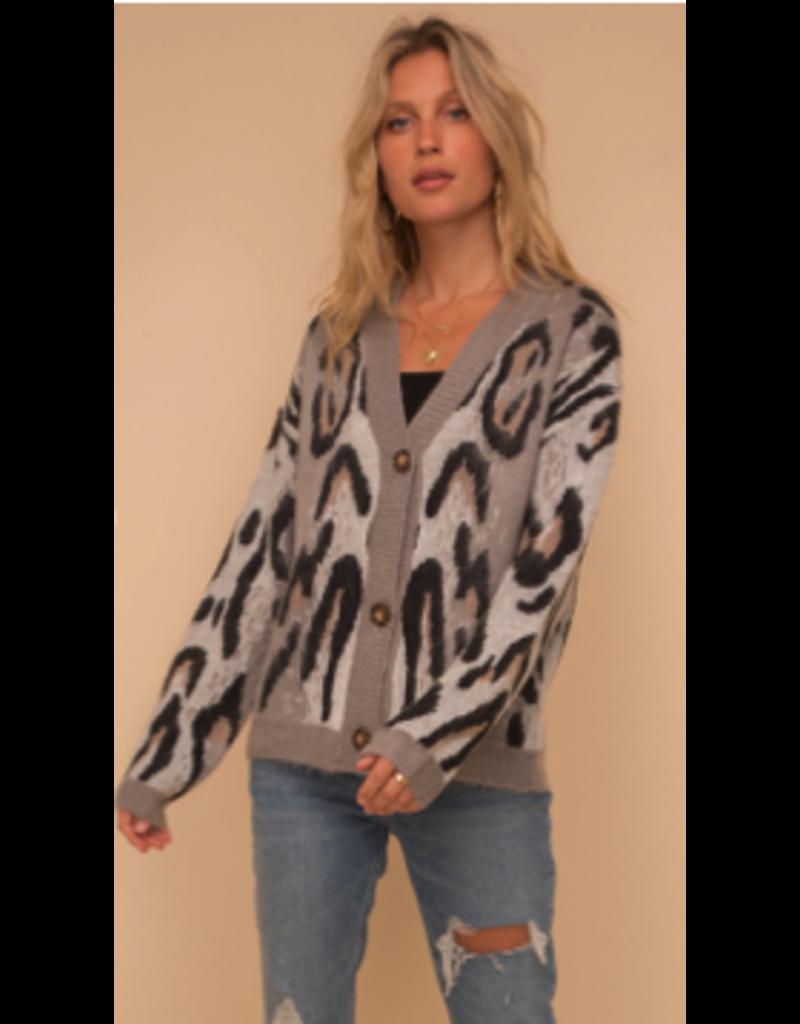 Hem & Thread Hem + Thread Sweater 8244J-Leopard