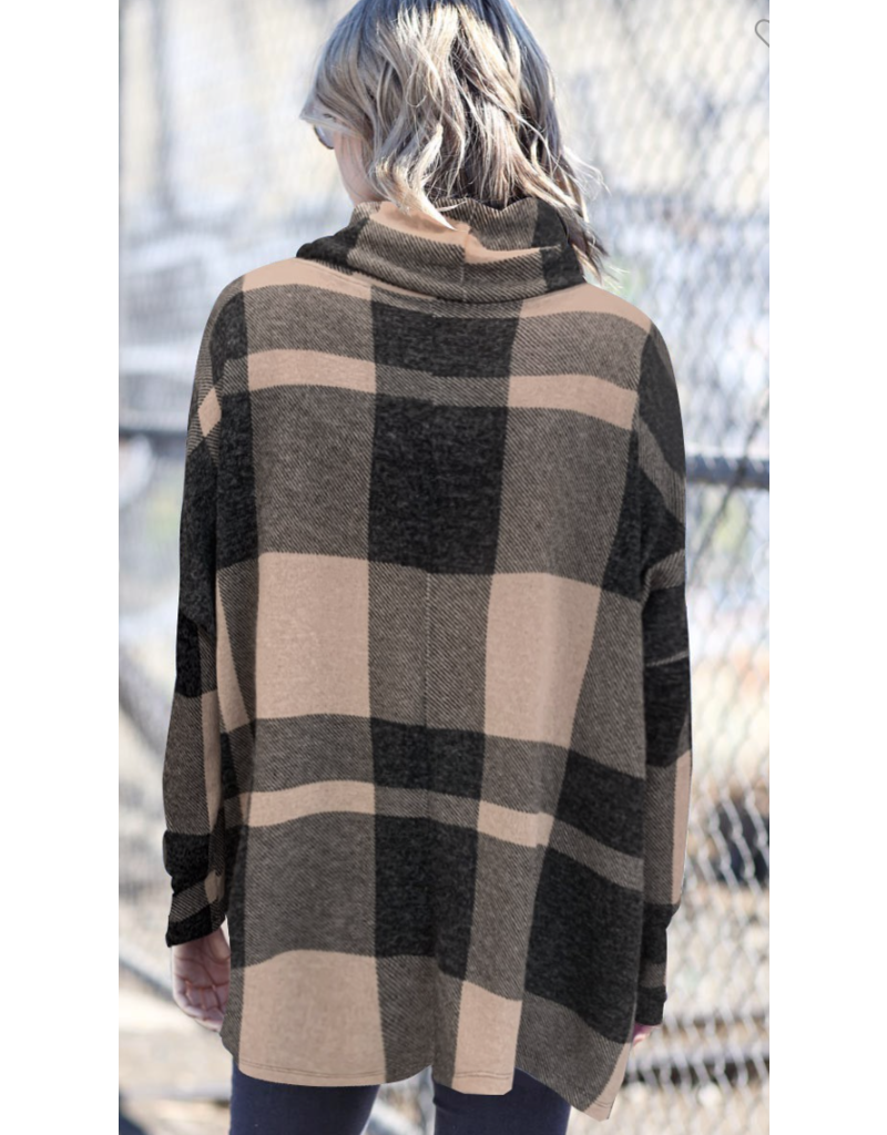 My Story My Story Plaid Fleece Top MT20410-7