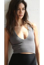 By Together By Together Seamless Plunged V Crop Tank S1047