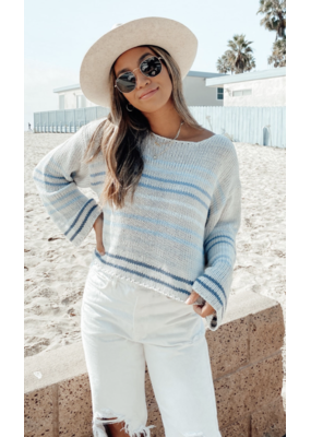 Lovestitch Lovestitch Striped Knit Sweater I-50452P